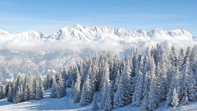 Winter in the swiss alps (Flumserberg, St.Gallen, Switzerland)