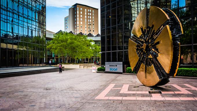 Bank of America Plaza in downtown Charlotte, North Carolina.