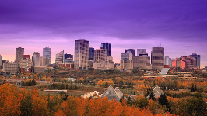 View of Edmonton Downtown.