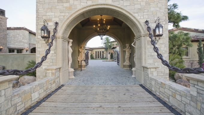 Stone gateway in Riverside.