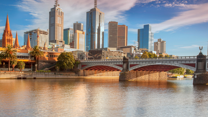 A view of the Melbourne skyline.