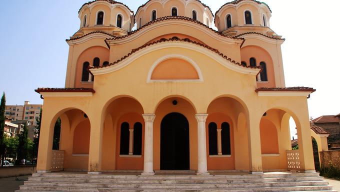 Nativity оf Christ Orthodox Cathedral іs а modern orthodox cathedral іn the city оf Shkoder, Albania.