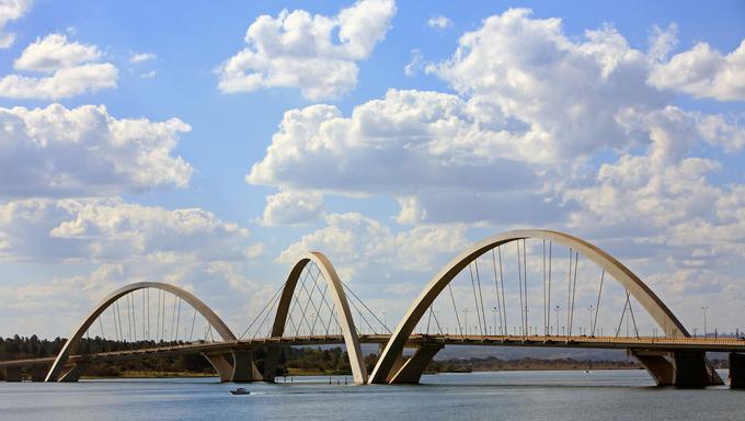 juscelino kubitschek bridge of Brasilia city capital of Brazil   The bridge was designed by Architect Alexandre Chan
