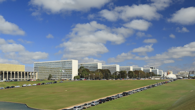 South view of the Ministries Esplanade in Brasilia, capital of Brazil