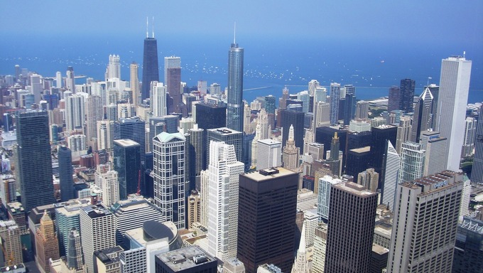 Panoramic view of Chicago.