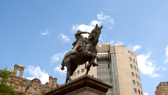 The Statue of Edward the Third the Black Prince in Leeds Yorkshire