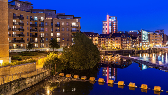 Clarence dock is the newley developed in Leeds city centre, England