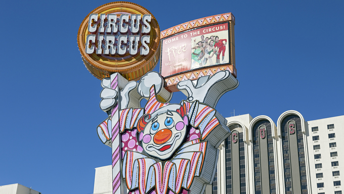 Circus sign in Reno, Nevada.