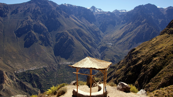 A view from the top of Colca Canyon.