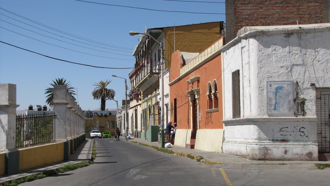 A small city street in Arequipa.