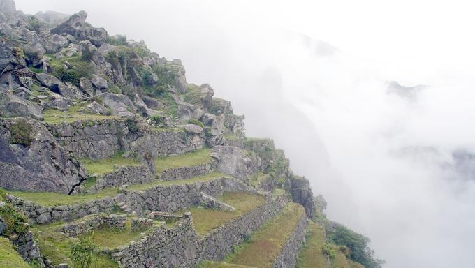 Ancient ruins of Machu Picchu near Cusco, Peru.