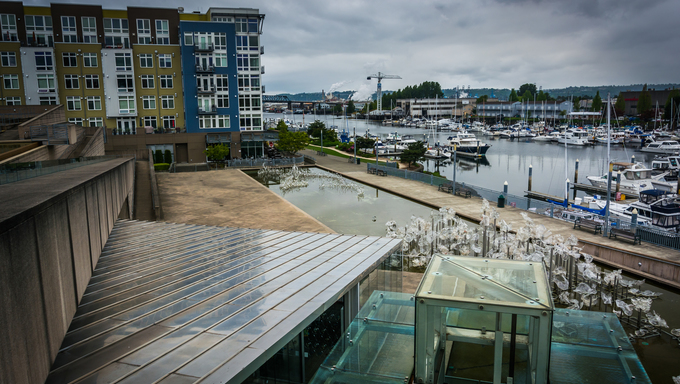 View of the waterfront in Tacoma, Washington.