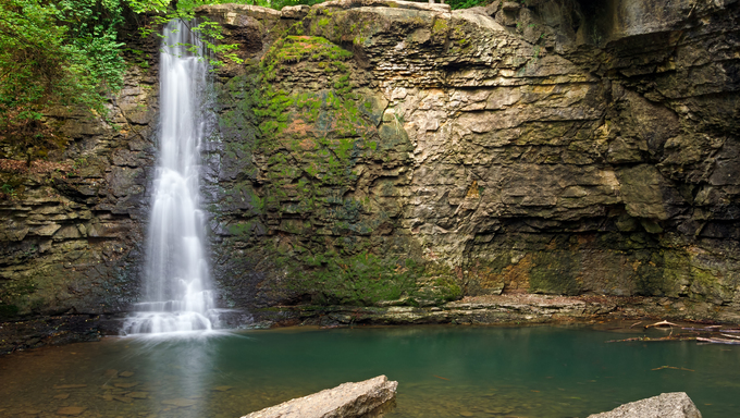 Hayden Falls, though secluded and unknown to many locals, is a waterfall located within the Columbus, Ohio metropolitan area.