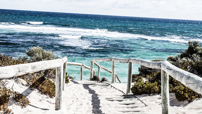 Scenic view over one of the beaches of Rottnest island  ( HDR image )
