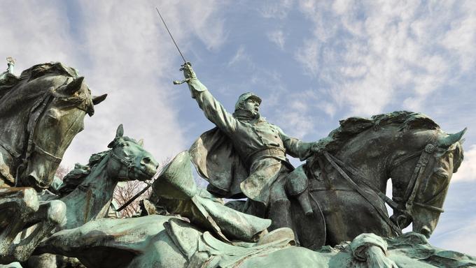 Civil War Soldier Statue in Washington DC
