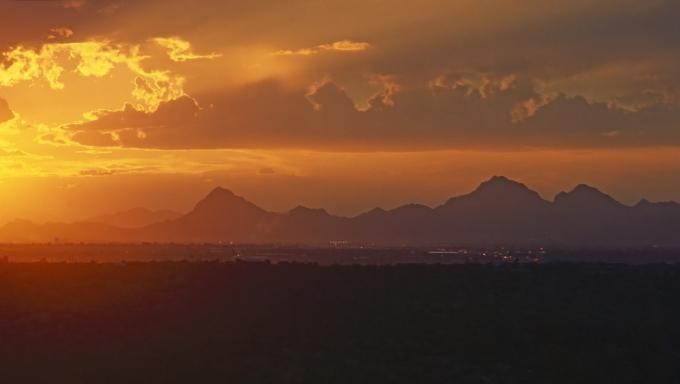 Sunset by Tucson, Arizona.