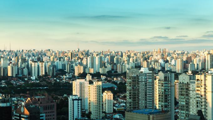 Sao Paulo Skyline in Brazil.