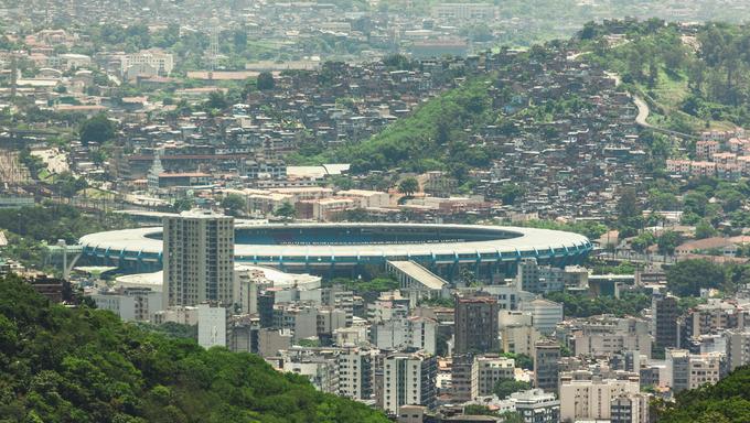 A view over Mineirão arena in Belo Horizonte.