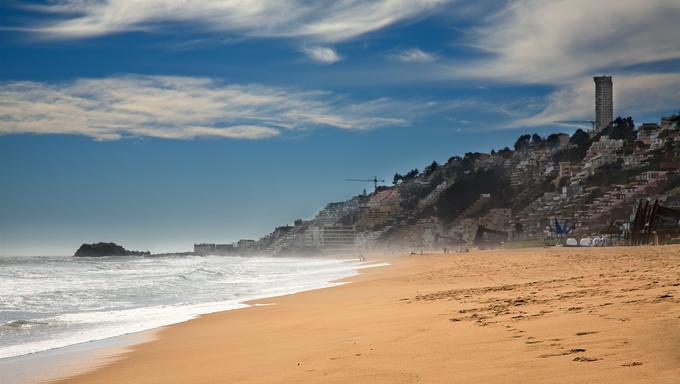 Beach at Vina del Mar, Chile.