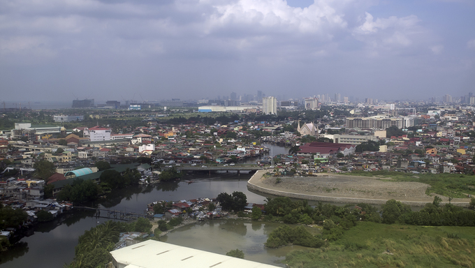 View of Manila (Philippines) from high point