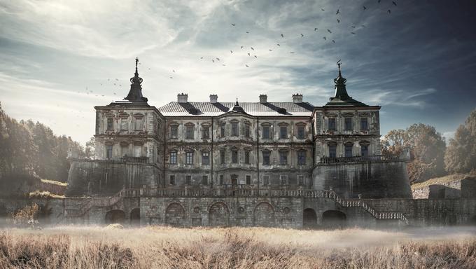 Pidhirtsi Castle, village Podgortsy, Renaissance Palace, Lviv region