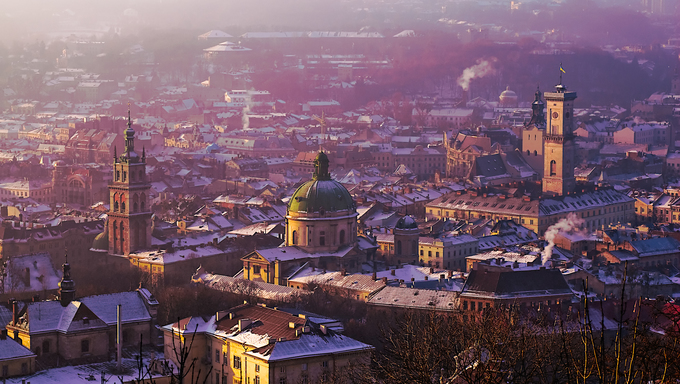 View of the city of Lviv (Lvov) in Western Ukraine