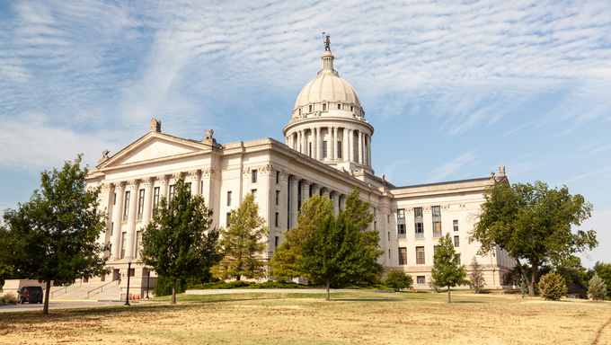 Oklahoma State House and Capitol Building.