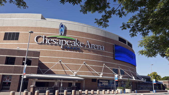 Chesapeake Arena in Oklahoma City where the Thunder play.