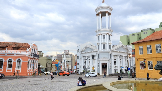 The Old Town of Curitiba, Brazil. Curitiba is the 8th most populous city of Brazil with 1.76 million inhabitants.