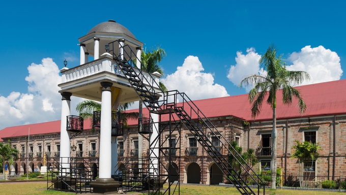 elevated pavilion in front of the Naga metropolitan cathedral in Naga City, Philippines