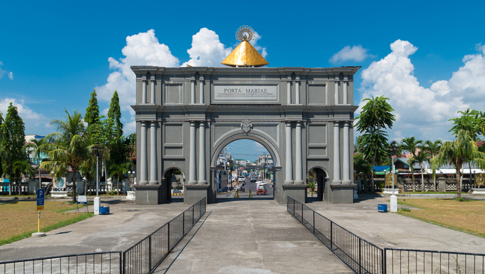 porta mariae in Naga City, Philippines. A commemorative arch dedicated to Lady of Penafrancia, celebrating 300 years of devotion (1710).