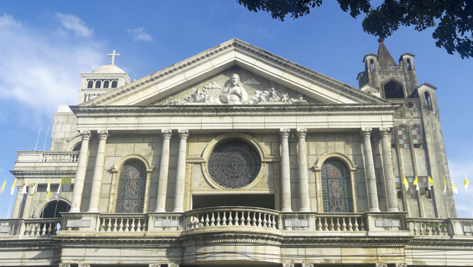 San Francisco Church in Naga City, Philippines, It,s the oldest (1578) church in the region. Initially built of bamboo and later reconstructed into a brick structure in the middle of the 17th century. The church was almost totally obliterated during the Second World War and remained in ruins until its reincarnation in 1957.