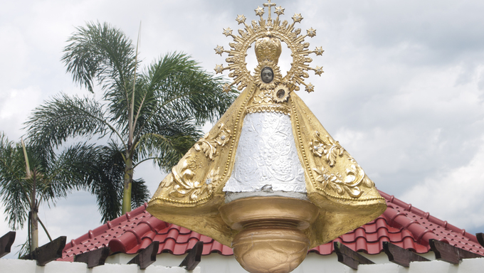 statue of Our Lady of Pe񡦲ancia, originally made from wood, of the Blessed Virgin Mary originally from Salamanca, Spain. Tens of thousands of pilgrims, devotees, tourists come to Naga City, Philippines every September for a nine-day festivities in honor of Our Lady of Pe񡦲ancia, the Patroness of Bicol, endearingly addressed by Bicolanos as INA (mother).