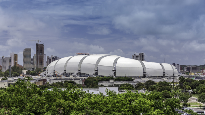 Arena das Dunas soccer stadium in Natal city, Brazil.