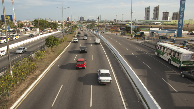 Highway in Natal, Brazil.