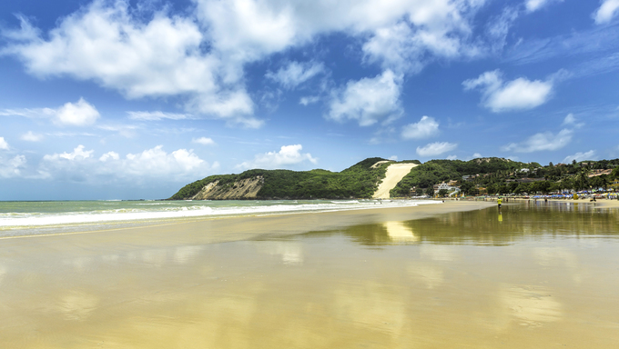 Ponta Negra dunes beach in Natal city,  Brazil.
