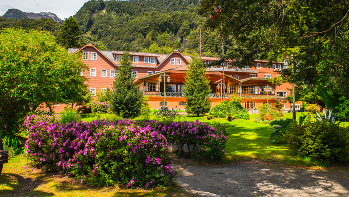 A second hotel in  the Vicente Perez Rosales National Park, Sector Puella, Chile, South America.