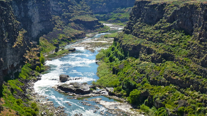 Absolutely beautiful river within a canyon located not far outside of Twin Falls.