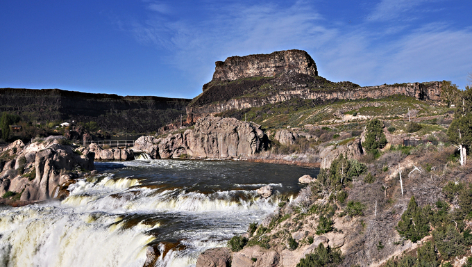 Located about 3 miles from Twin Falls, Idaho, Shoshone Falls is known as Niagara of the west.