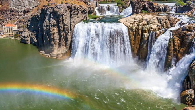 Shoshone Falls on snake river, in Twin Falls, Idaho.