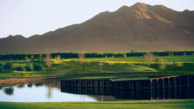 An Arizona golf course, known to be a popular attraction in the Winter.