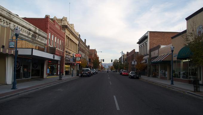 A view of Downtown Pocatello.