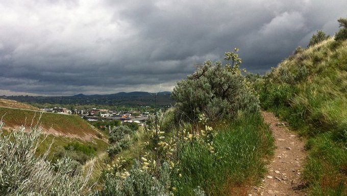 A view from a bike trail just outside of Pocatello.