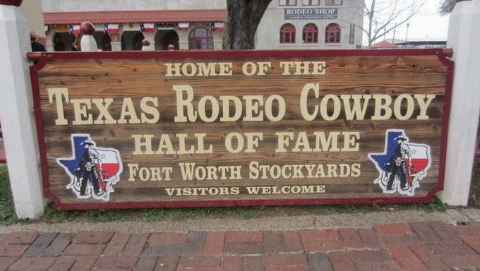 Texas Cowboy Hall of Fame Sign.