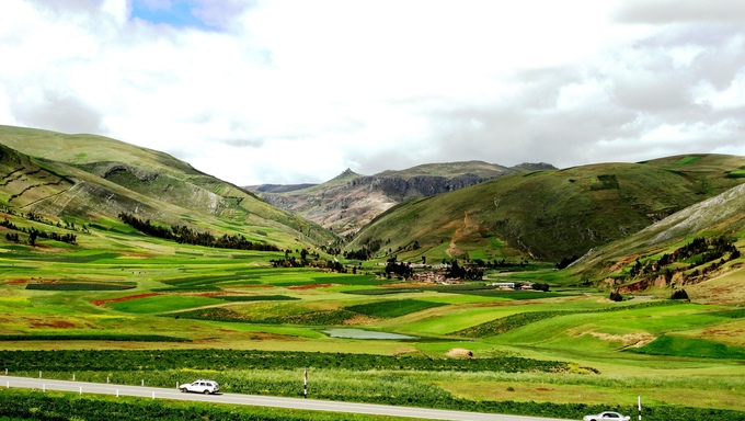 Beautiful scenery of the foothills in Huancayo.