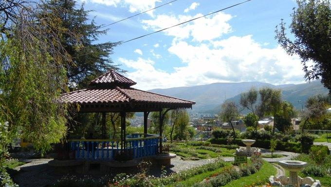Garden area at Cerrito in Huancayo.