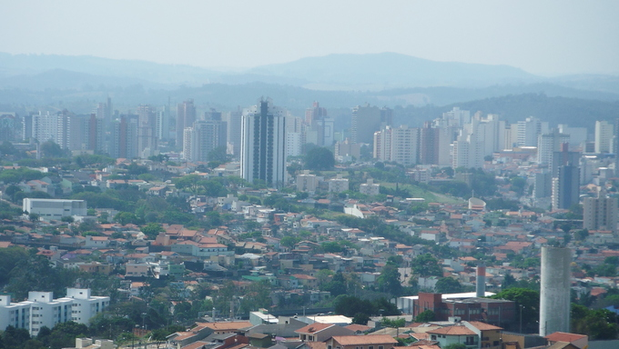An aerial view of Jundiai, a large city in the Campinas mission boundaries.