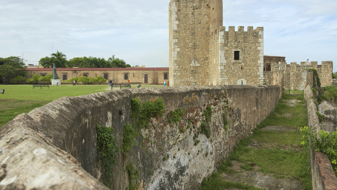Exterior of the Ozama Fortress in Santo Domingo, a UNESCO World Heritage site.