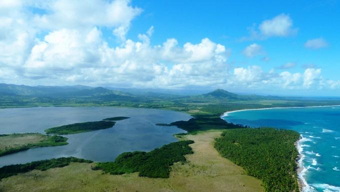 A view of the gorgeous Laguna Bavaro.