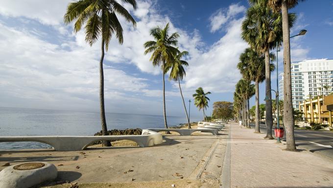The Malecon Boulevard in Santo Domingo.